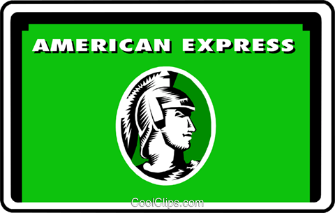 American Express card Royalty Free Vector Clip Art illustration busi0324