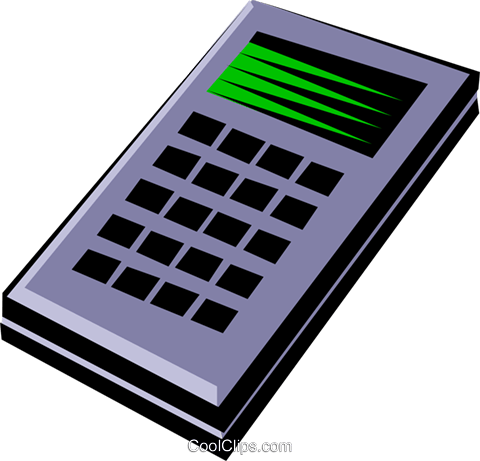 Calculator Royalty Free Vector Clip Art illustration busi0327