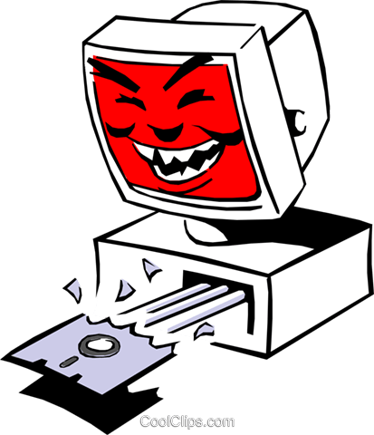 Computer Royalty Free Vector Clip Art illustration cart0471