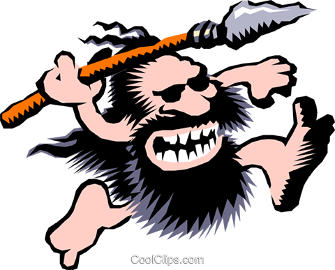 Cartoon cavemen Royalty Free Vector Clip Art illustration cart0473
