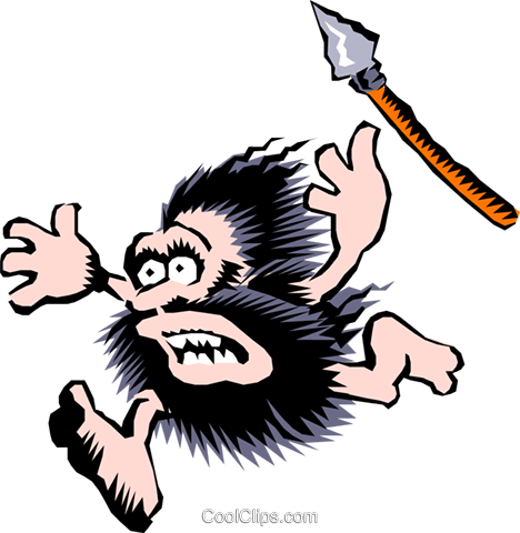 Cartoon cavemen Royalty Free Vector Clip Art illustration cart0474