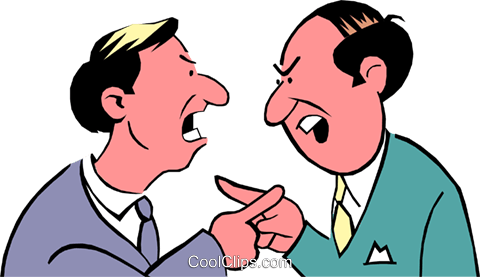 Cartoon argument Royalty Free Vector Clip Art illustration cart0479
