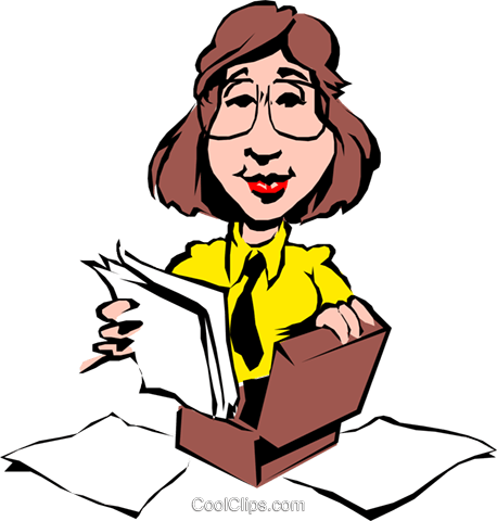 Cartoon Frau mit Aktentasche Vektor Clipart Bild cart0522