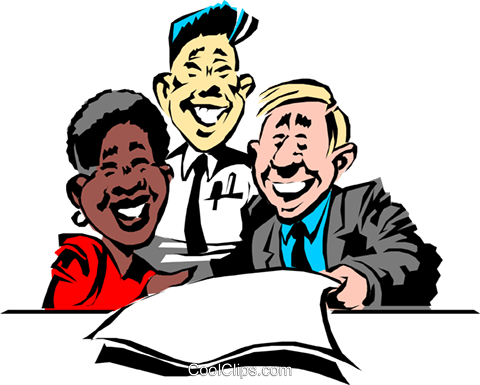 Cartoon office workers Royalty Free Vector Clip Art illustration cart0524