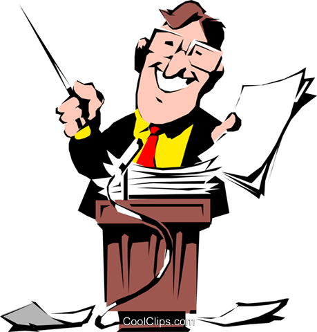 Cartoon man with pointer Royalty Free Vector Clip Art illustration cart0546