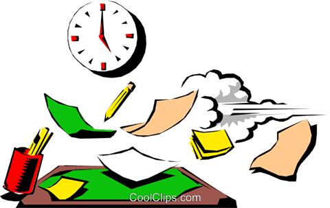 Cartoon clock on the wall Royalty Free Vector Clip Art illustration cart0550