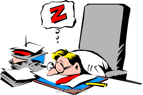 Cartoon man snoozing Royalty Free Vector Clip Art illustration cart0551