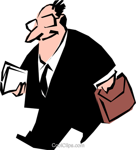 Cartoon executive Royalty Free Vector Clip Art illustration cart0554