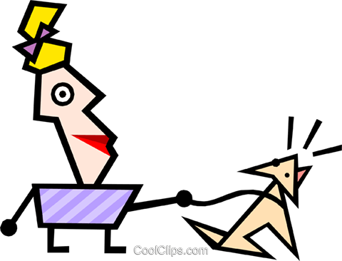 Modern art guy Royalty Free Vector Clip Art illustration cart1297