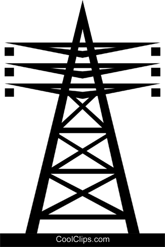 Hydro tower Royalty Free Vector Clip Art illustration envi0065