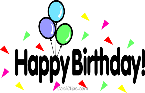Happy birthday! Royalty Free Vector Clip Art illustration even0132