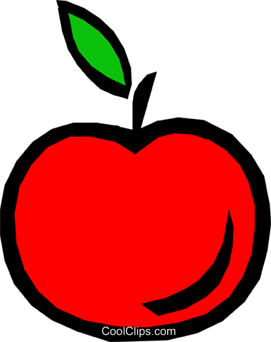 Apple Royalty Free Vector Clip Art illustration food0388