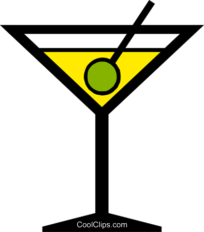 Martini Royalty Free Vector Clip Art illustration food0391
