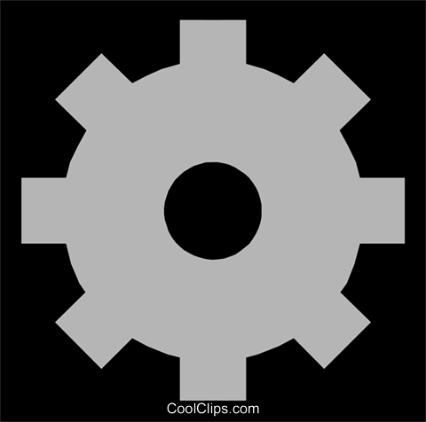 Gear symbol Royalty Free Vector Clip Art illustration indu0419