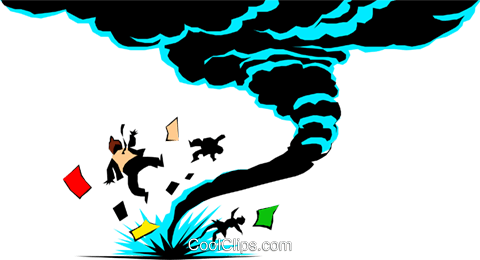 Cartoon tornado Royalty Free Vector Clip Art illustration natu0206