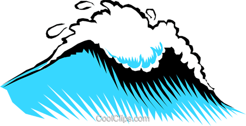 Big wave Royalty Free Vector Clip Art illustration natu0211