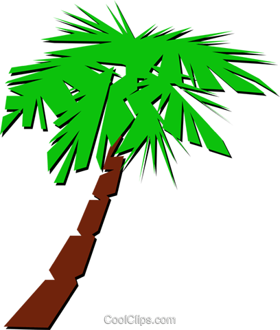 Palm tree symbol Royalty Free Vector Clip Art illustration natu0212