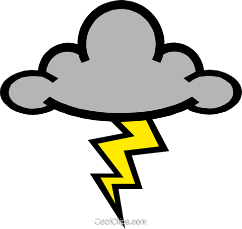 Lightening Royalty Free Vector Clip Art illustration natu0214