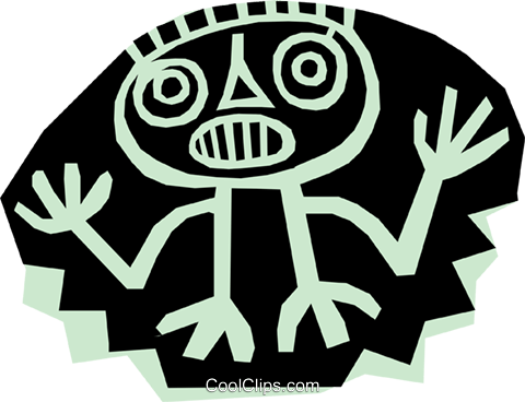 Aztec people designs Royalty Free Vector Clip Art illustration peop1153