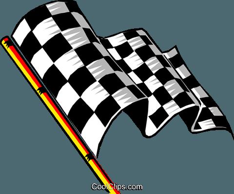 Car Racing Flags Clipart