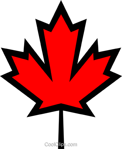Canadian maple leaf Royalty Free Vector Clip Art illustration worl0097