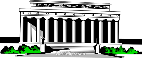 Lincoln Memorial Royalty Free Vector Clip Art illustration arch0216