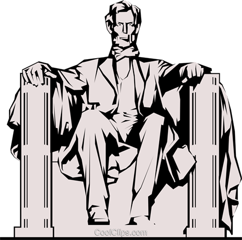 Lincoln Memorial Royalty Free Vector Clip Art illustration arch0217