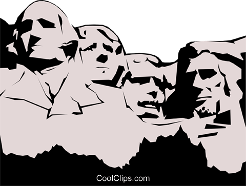Mount Rushmore Royalty Free Vector Clip Art illustration arch0218