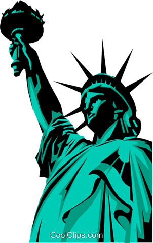 Statue of Liberty Royalty Free Vector Clip Art illustration arch0219