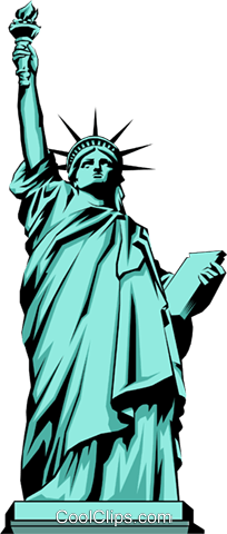 Statue of Liberty Royalty Free Vector Clip Art illustration arch0220