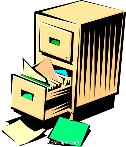 Filing cabinet Royalty Free Vector Clip Art illustration busi0347