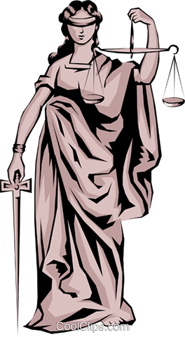 Scales of Justice Royalty Free Vector Clip Art illustration busi0350