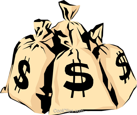 Money bags Royalty Free Vector Clip Art illustration busi0356
