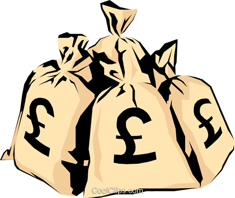 Moneybags Royalty Free Vector Clip Art illustration busi0357
