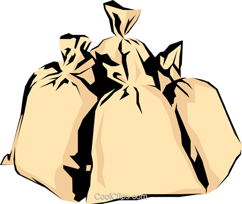 Money bags Royalty Free Vector Clip Art illustration busi0358