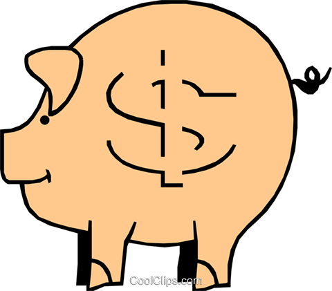 Piggy banks Royalty Free Vector Clip Art illustration busi0361