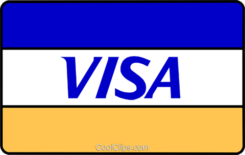 Visa card Royalty Free Vector Clip Art illustration busi0373