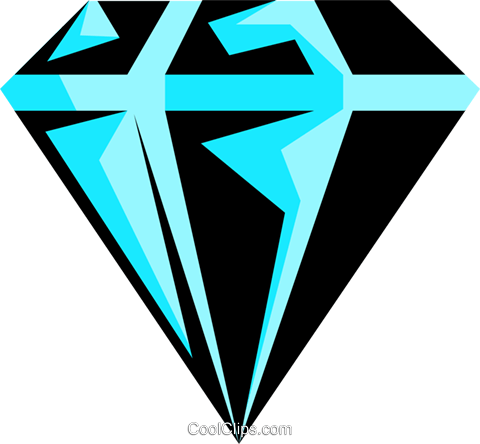 Diamond Royalty Free Vector Clip Art illustration busi0375