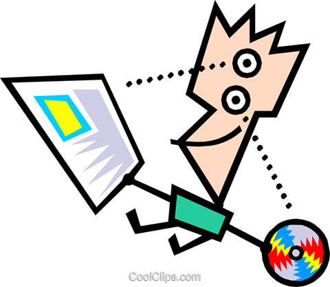 Modern art guy Royalty Free Vector Clip Art illustration cart1312