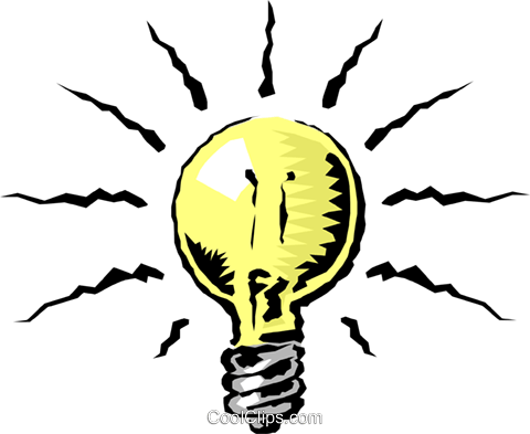 Light bulb Royalty Free Vector Clip Art illustration envi0068