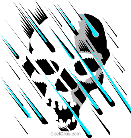 Acid rain Royalty Free Vector Clip Art illustration envi0070