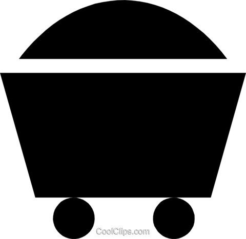 Coal wagon Royalty Free Vector Clip Art illustration envi0072