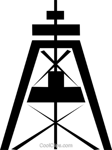 Well drilling Royalty Free Vector Clip Art illustration envi0073