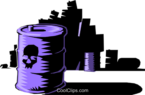Toxic waste Royalty Free Vector Clip Art illustration envi0074