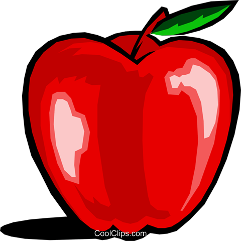 Apple Royalty Free Vector Clip Art illustration food0392