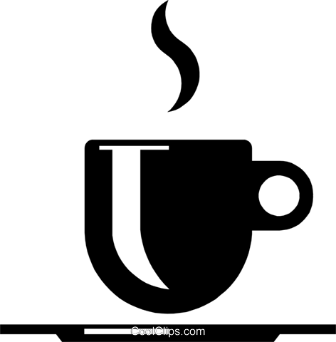 Coffee cup symbol Royalty Free Vector Clip Art illustration food0401