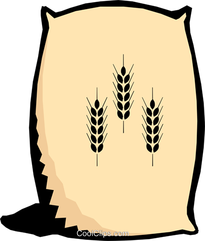 Bag of flour Royalty Free Vector Clip Art illustration food0403