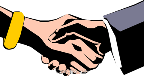 Hands shaking Royalty Free Vector Clip Art illustration hand0048