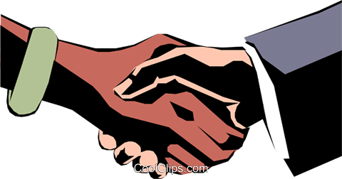 Hands shaking Royalty Free Vector Clip Art illustration hand0050