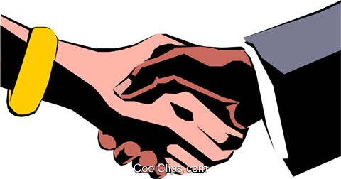 Hands shaking Royalty Free Vector Clip Art illustration hand0051